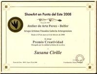 """PREMIO CREATIVIDAD A LA OBRA """"SENSUALIDAD"""" - 2008"""