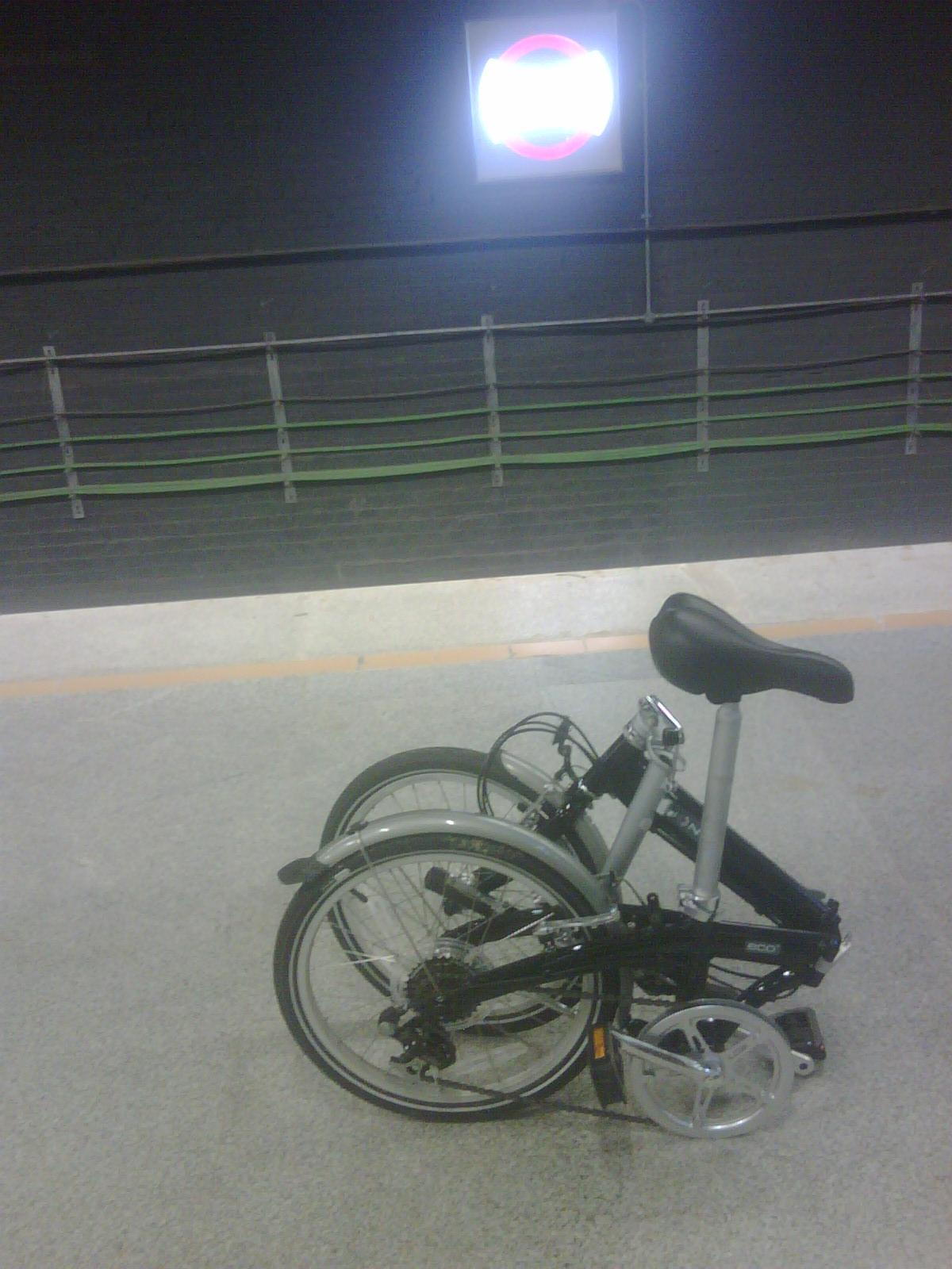 Image result for latest images of Foldable bicycles allowed in Bengaluru metro if they fit through scanner