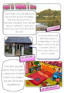 ... 6 Violet : Description De Sa Chambre+maison+village à écrire (modèle  Sur Vidéoprojecteur)