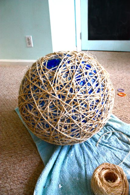 MOSS ECLECTIC My DIY Sisal Globe Pendant Light Revisited