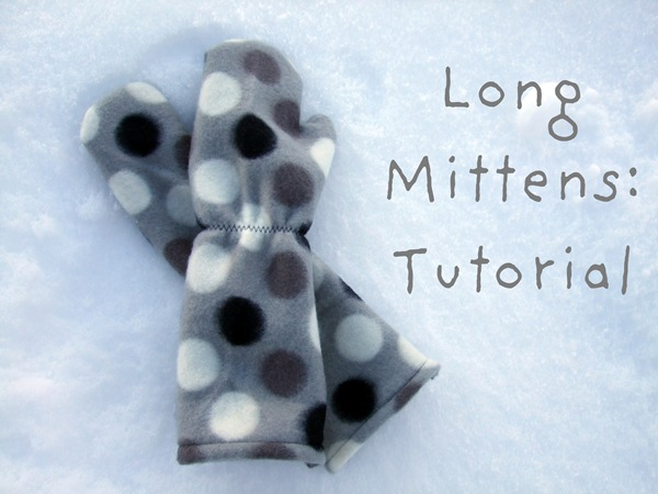 sewing long mittens