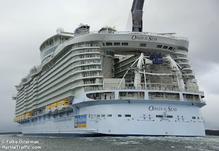 Oasis of the seas position