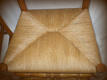 Fiber or Paper Rush Seat - Repaired