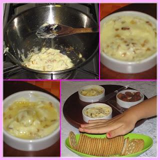 Pasta de alho com queijo catupiry