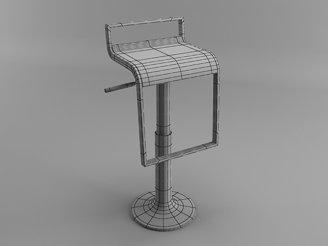 Bar chair 3ds max modeling tutorial tutorials for 3ds max for Chair design 3ds max