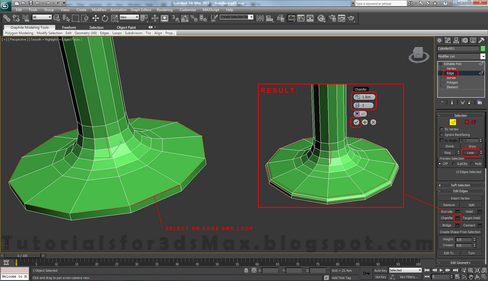 how to delete inner polygons in 3ds max