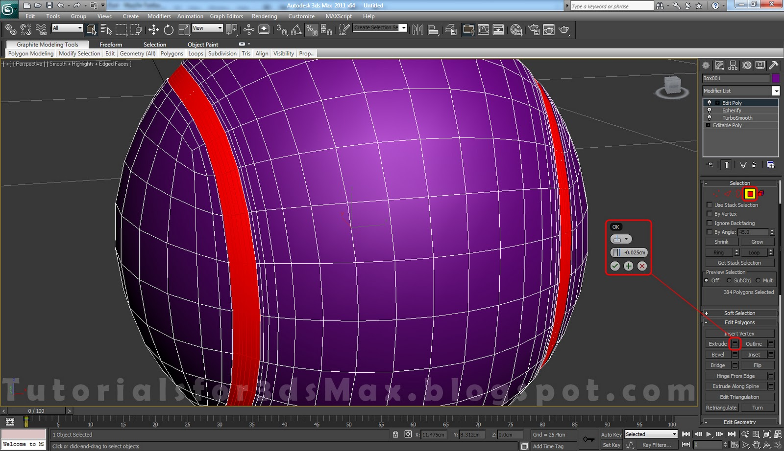 Tennis ball 3ds max modeling tutorial graphics artists for 3ds max step by step tutorials for beginners