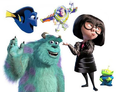 all pixar characters. just about all) Pixar