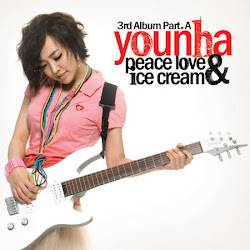 YOUNHA - PEACE LOVE  AND ICE CREAM, PART A, THIRD ALBUM