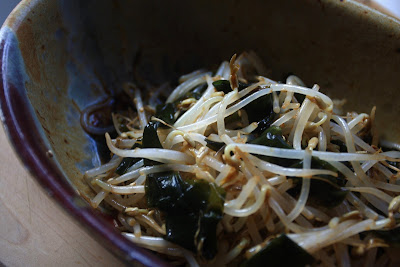 Soybean Sprout and Seaweed Salad (Moyashi and Wakame Salad)