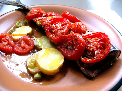 Baked Blue Fish with Tomatoes (Psaria Plaki)
