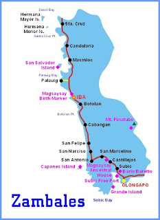 Map of Zambales