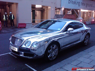 bentley continental plated silver