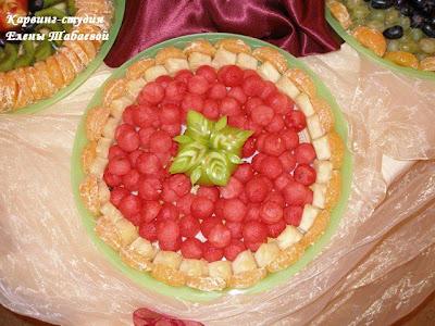 Способы декоративной раскладки фруктов на блюде