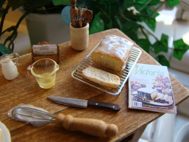 Lemon pound cake from a magazine