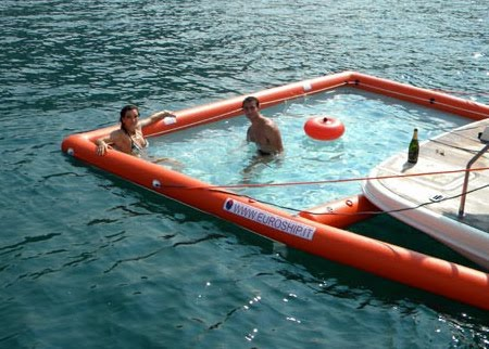 of all design inflatable pool for your boat