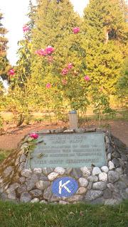 Rose Garden, Kiwanis Club Plaque, Stanley Park, Vancouver