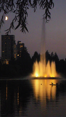 Lost Lagoon from Stanley Park, Vancouver, in the evening