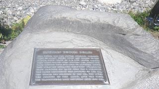 Indian Totem Poles plaque of Brockton Point, Stanley Park, Vancouver