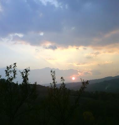 Sunset in Romania