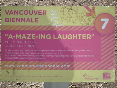 A-Maze-Ing Laughter plaque at english Bay