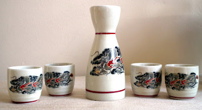 Japanese Dragon Sake Set