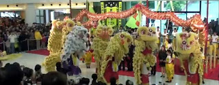 Lion Dance at Hong Kong 2010 celebration of Chinese New Year