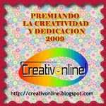 """PREMIO A LA CREATIVIDAD Y DEDICACIÓN 2009 dado al """"INFANTIL EN EL SEDOFEITO"""""""