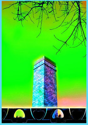 art166 digital photo-manipulation contemporary chimney
