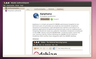 Epiphany böngésző Ubuntu