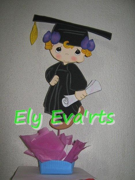 Centros de mesa para graduación en goma eva - Imagui