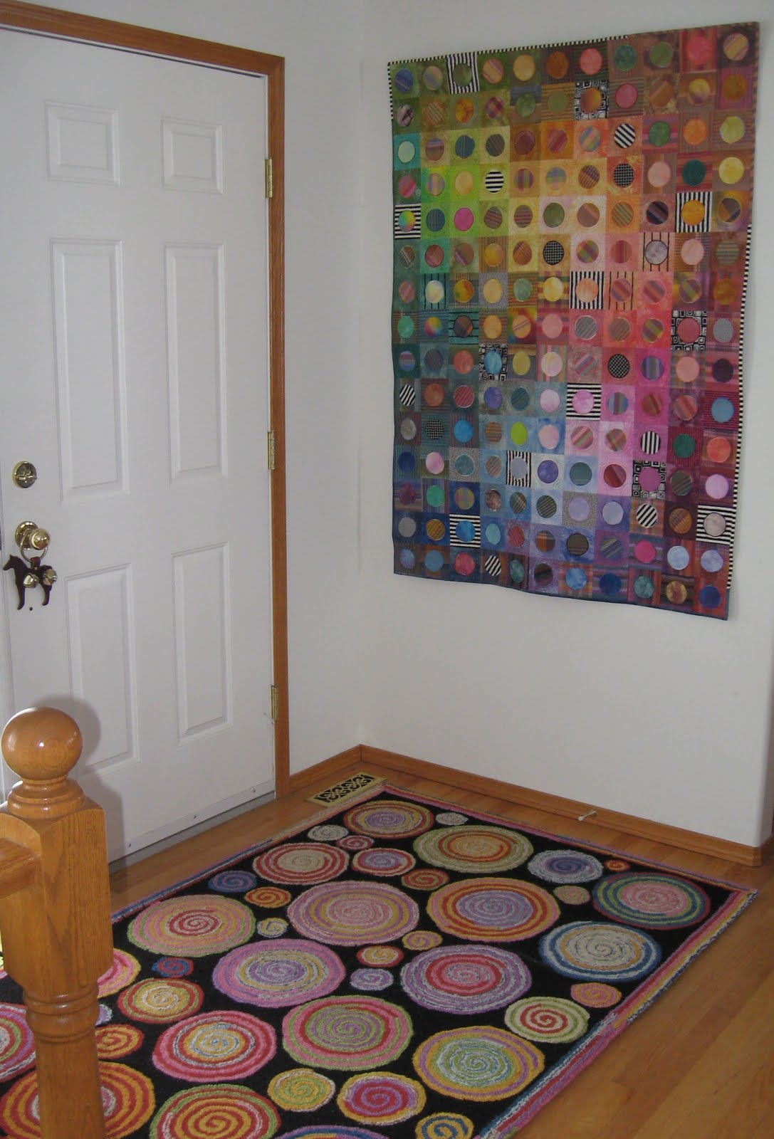 Cathy tomm quilts not so black and white for Front door quilt pattern