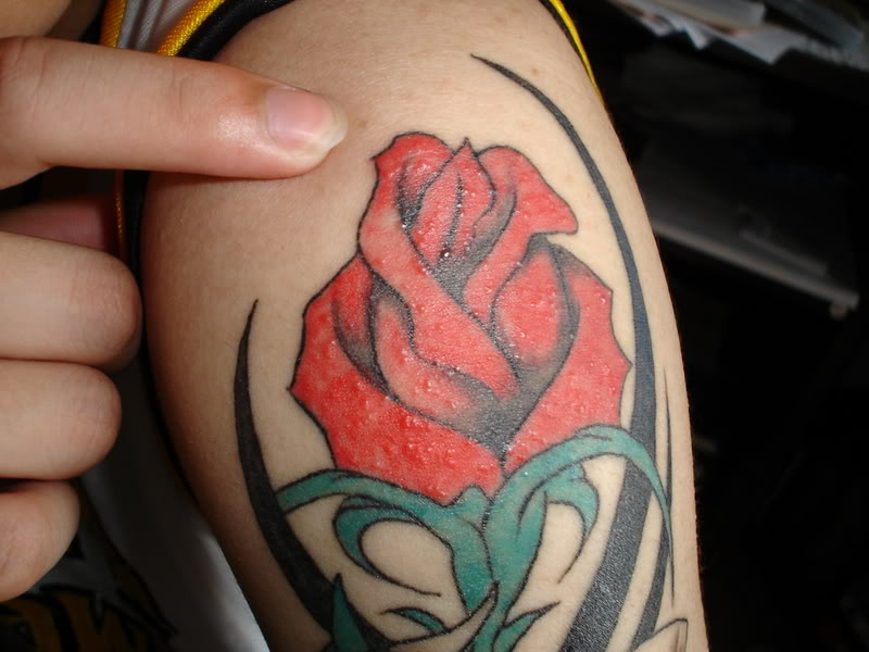 purple rose tattoo. purple rose tattoo