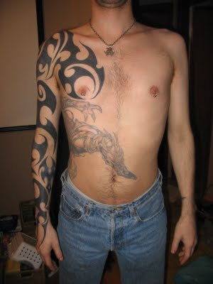 tribal body tattoo