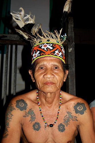 old people with tattoos. people mostly tattooed,