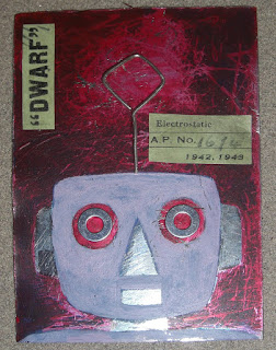 original robot art steampunk aceo