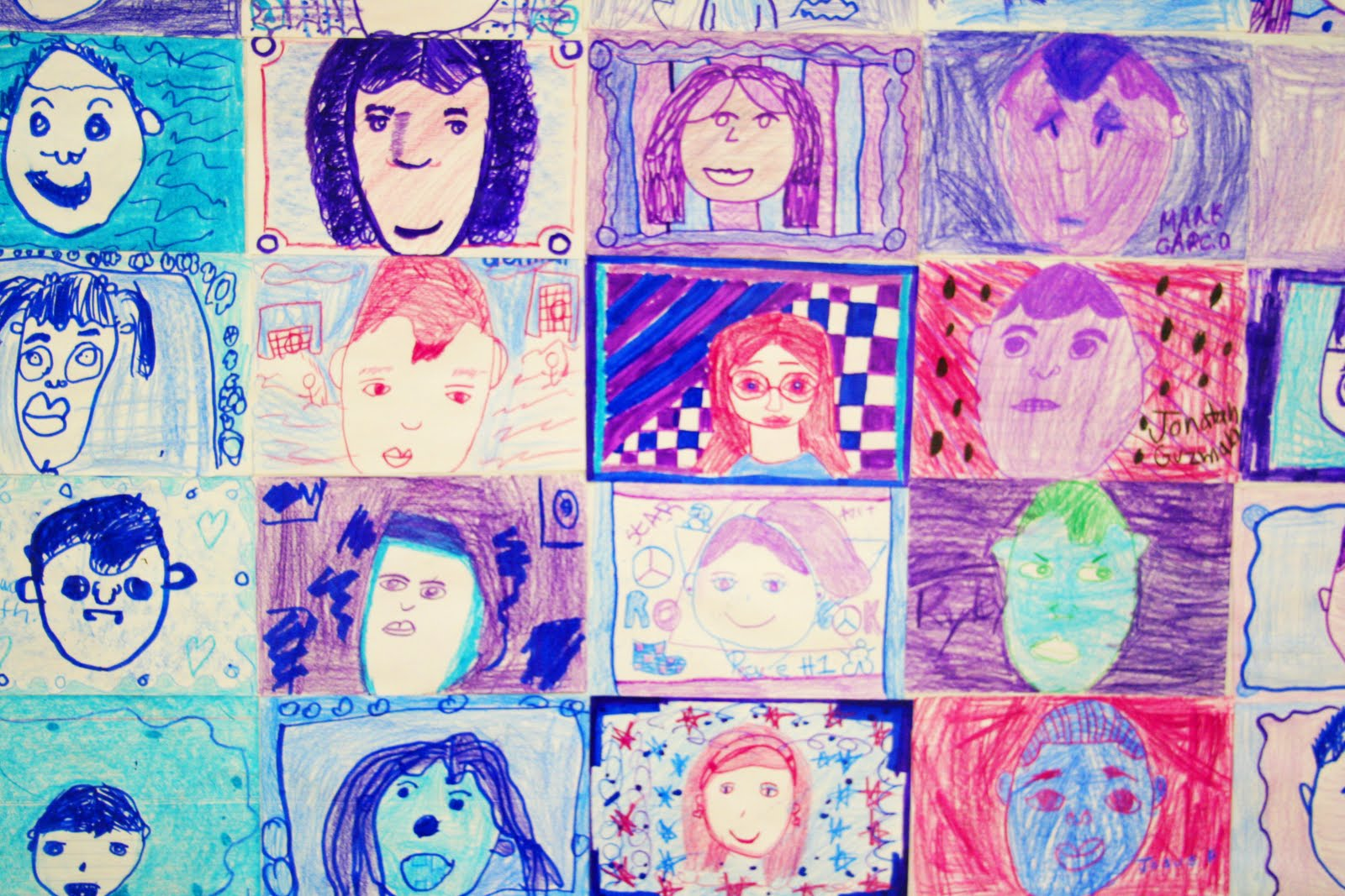 Color wheel art lesson for second grade -  Middle Then Nose Half Way B W Eyes And Chin And Lips Half Way B W Nose And Chin We Lookes At Many Different Hairstyles And How To Draw Them From The
