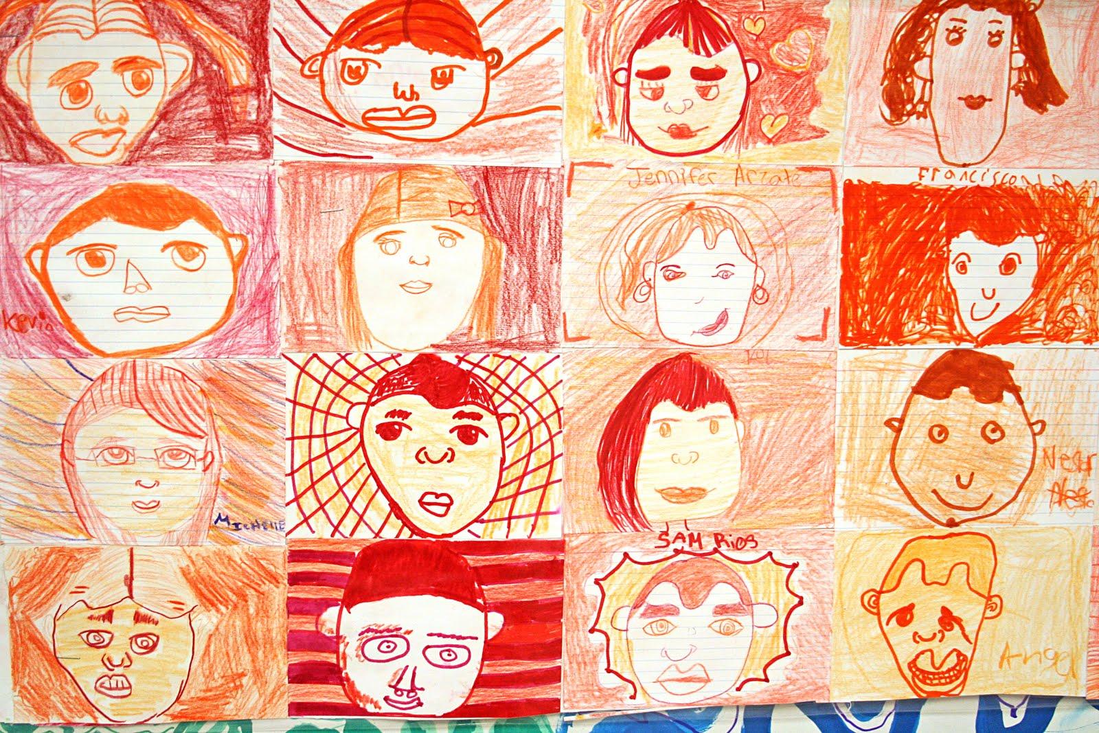 Color wheel art projects for kids - Color Wheel Self Portrait Mural
