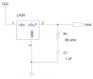 Gambar rangkaian sensor LM35