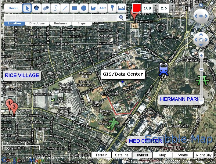 Gis Information From Fondren Library Rice University Tuesday Tools