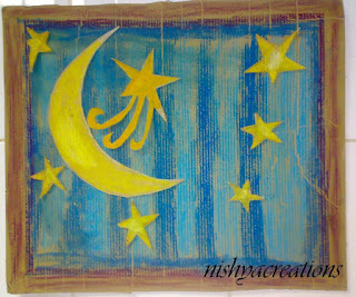 Nishya creations papier mache crafts bead jewelry hand for Moon and stars crafts