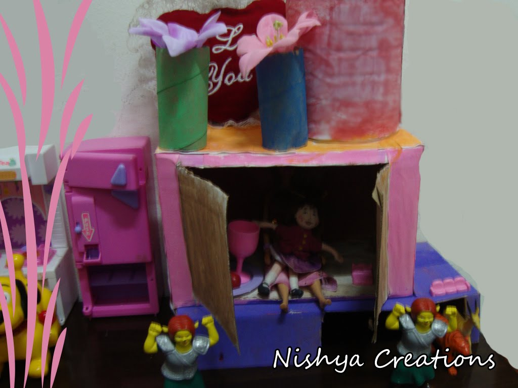 Doll house nishya creations for Waste materials at home