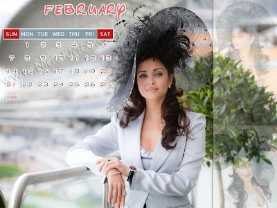 calendar january 2010. Aishwarya Rai Calendar January