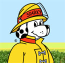 Sparky, the kids' mascot from NFPA