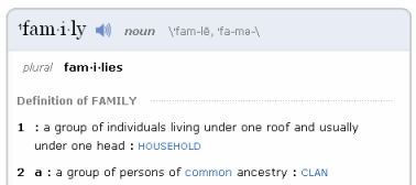 Definition of Family from M-W.com