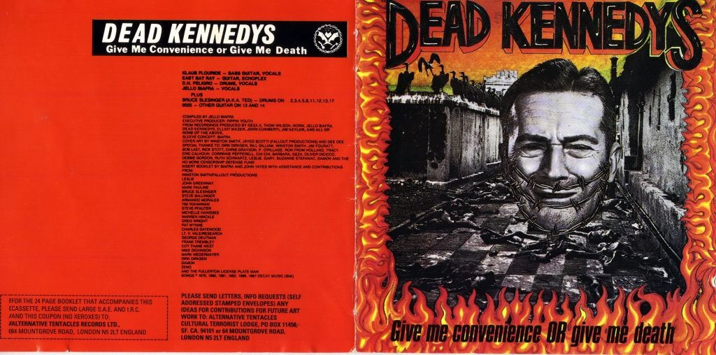 Hellucination Dead Kennedys Give Me Convenience Or Give