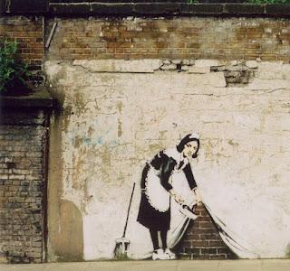 banksy clean streets maid