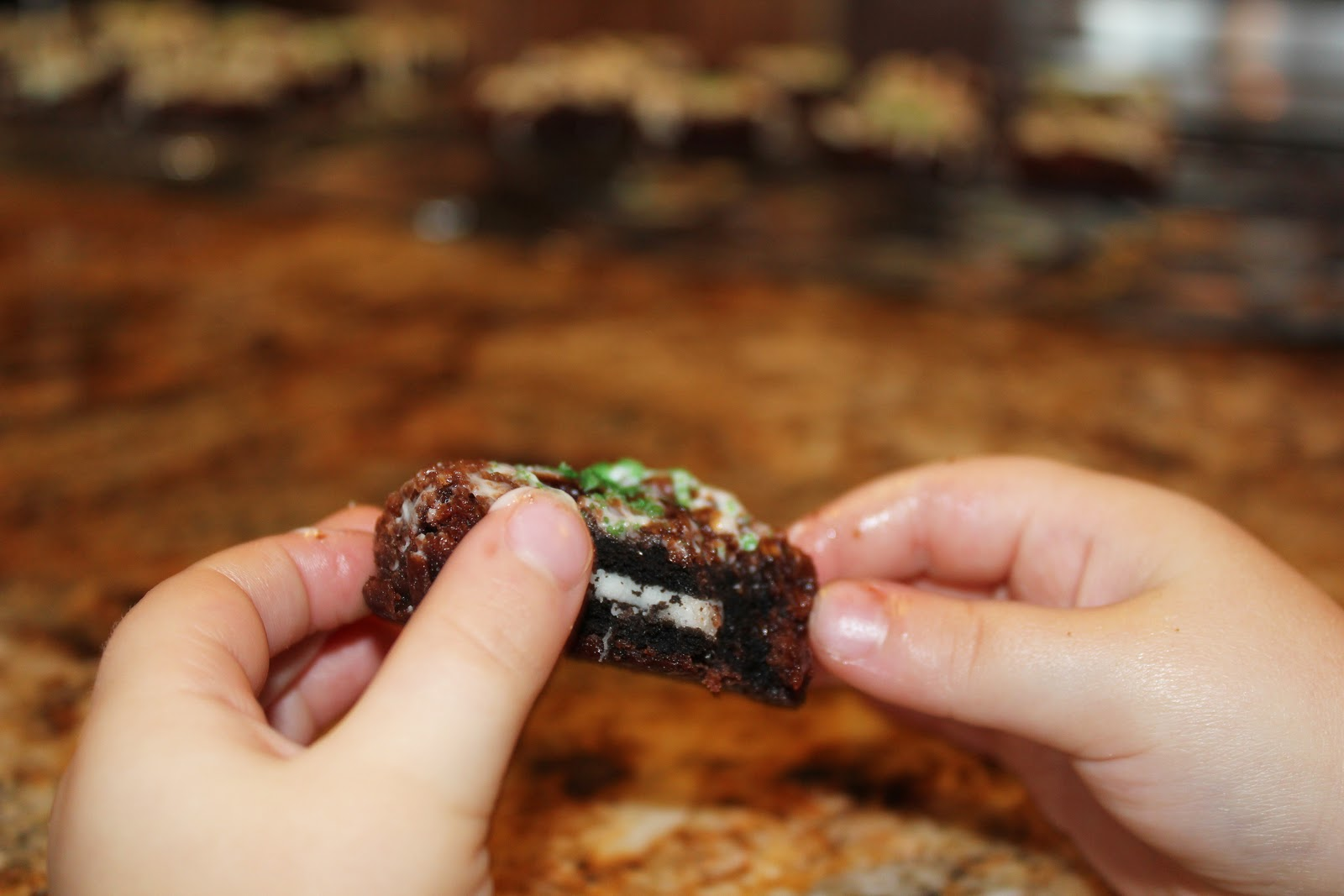 Cookie Brownies Brownie Covered Cookies