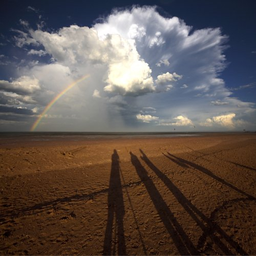 Foto Bayangan Pemandangan Awan