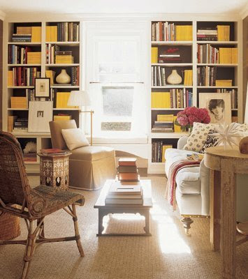 Warm neutrals With yellow accents Is Good Library